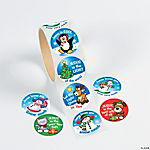 Christmas Inspirations Roll of Stickers