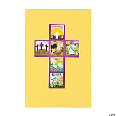 """He Lives!"" Cross Sticker Scene"