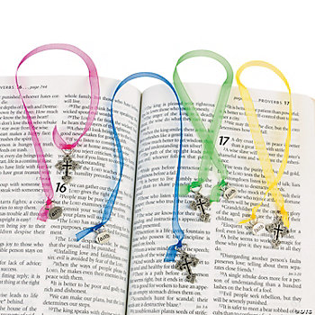 Ornate Cross Ribbon Bookmarks