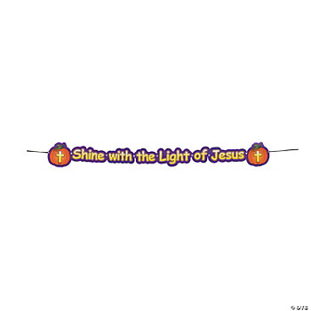Christian Pumpkin Jointed Banner
