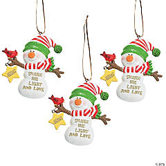 """Share His Light"" Christmas Ornaments"