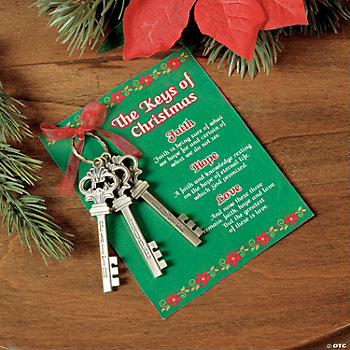 """Keys of Christmas"" with Card"