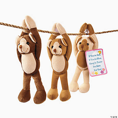 "Plush ""Hang in There"" Mini Long Arm Bears"