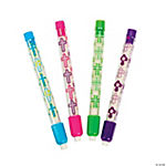 Cross Print Eraser Sticks