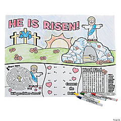 Lent Activity Place Mats With Crayons