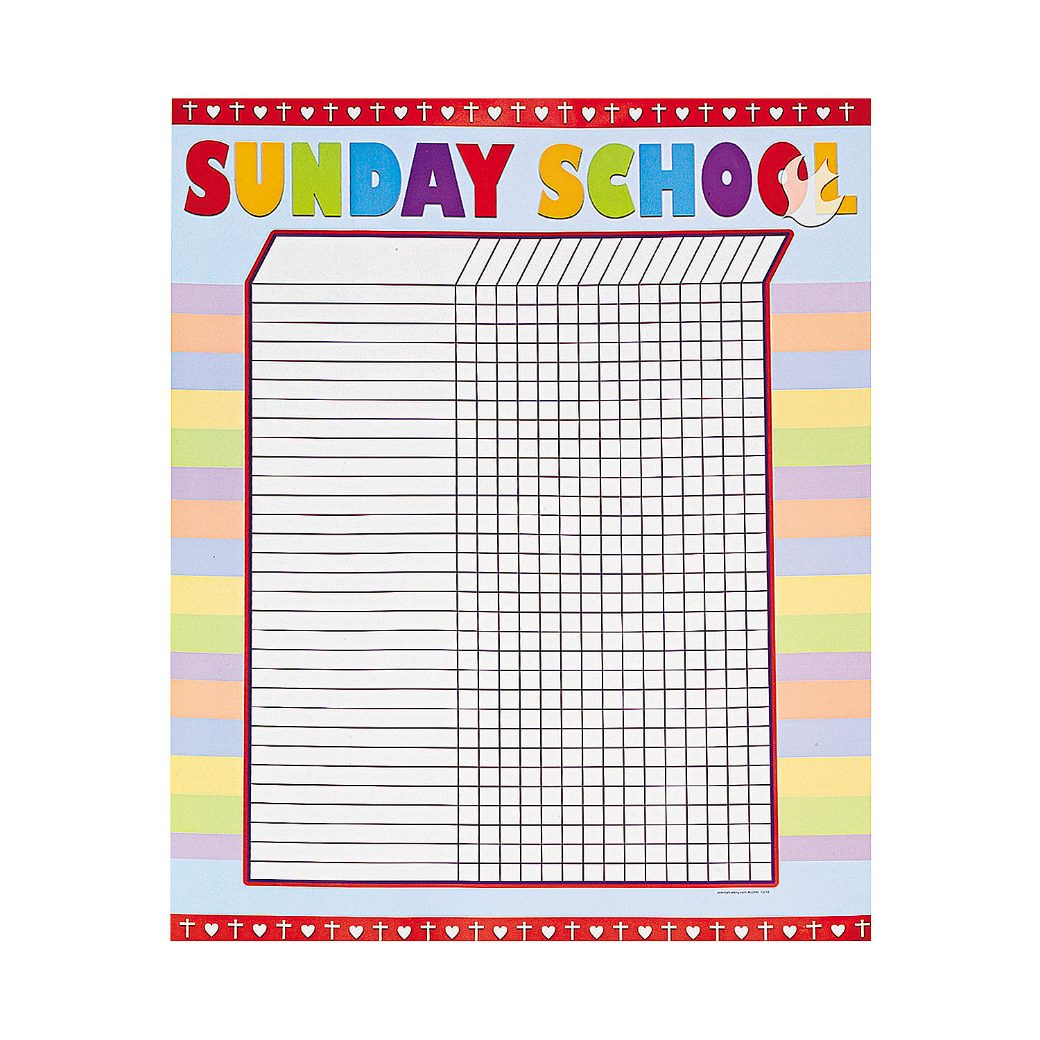free printable attendance charts for sunday school hd images – Free Printable Attendance Chart