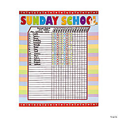 Sunday School Attendance Sticker Chart