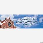 Personalized Religious Welcome Banner — Medium