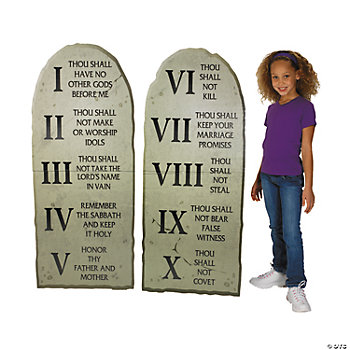 Craft Ideas Commandments on Ten Commandments Stand Up  Stand Ups  Party Decorations  Party Themes