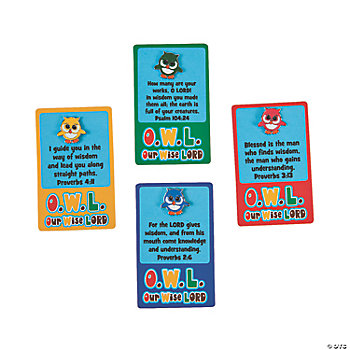 """O.W.L."" Pins On Cards"