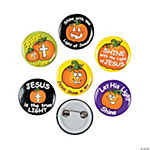 Christian Pumpkin Glow-in-the-Dark Mini Buttons