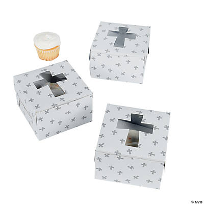 Cupcake Boxes with Crosses