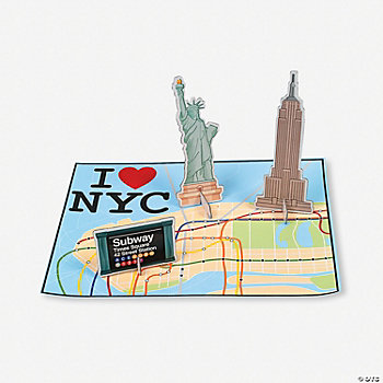 New York Pop Out Sticker Scenes