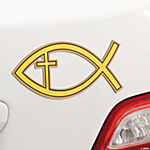 Religious Fish Car Magnets