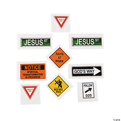 Religious Road Sign Tattoos