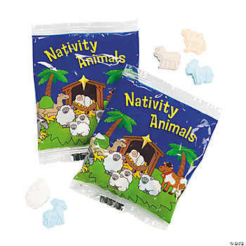 """Nativity Animals"" Candy Fun Packs"