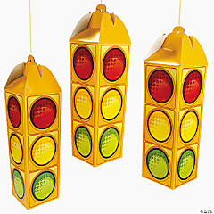 3-D Traffic Light Ceiling Decorations