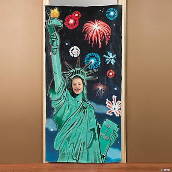 Statue of Liberty Photo Door Banner