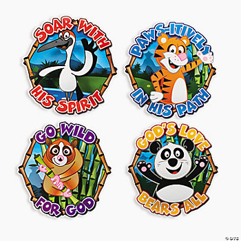 Large 3D Panda & Friends Cutouts
