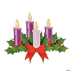 Advent Wreath Cutouts