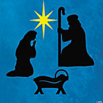 Silhouette Nativity Christmas Wall Decals