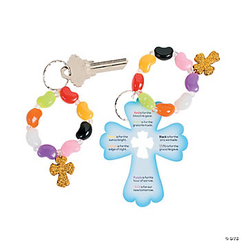 Jelly Bean Prayer Key Chains