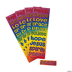 Religious Rainbow Stickers