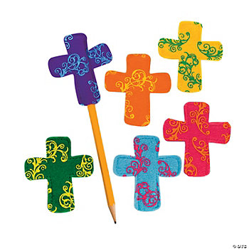 Cross Pencil Toppers