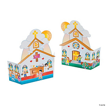 Paper Fold Up Church Scenes
