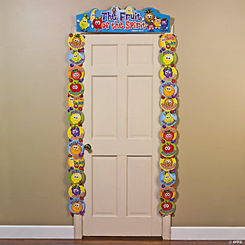"""Fruit Of The Spirit"" Door Border. Welcome guests with this fun and ..."