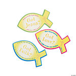 Scripture Fish Sticky Notes