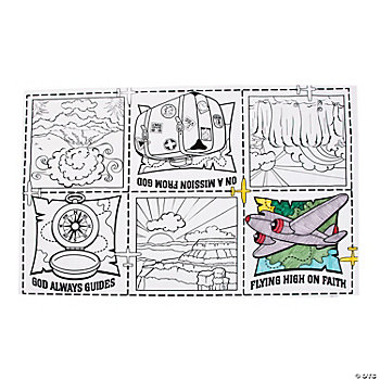 Awesome Adventure Coloring Table Cover