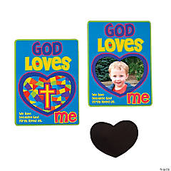 """God Loves Me"" Photo Magnets"