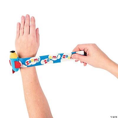 VBS Plush Airplane Slap Bracelets