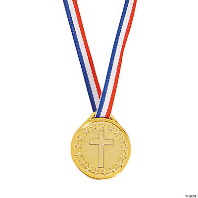 Christian Athlete Plastic Medals