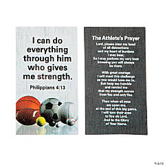 Christian Athlete Prayer Cards