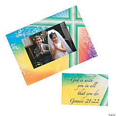 Blessing Religious Photo Frame Magnets