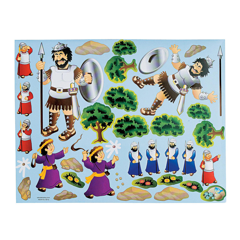 David goliath sticker scenes oriental trading for David and goliath craft