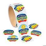 Smile Jesus Loves You Roll Stickers