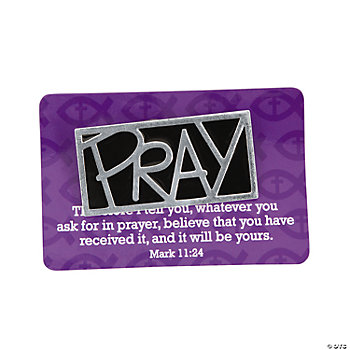 Pray Pins On Card