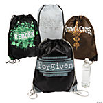 Tween Religious Drawstring Backpacks