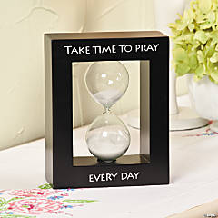 """Take Time to Pray"" Tabletop Hourglass"