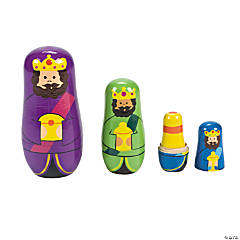 Three Wise Men Nesting Dolls