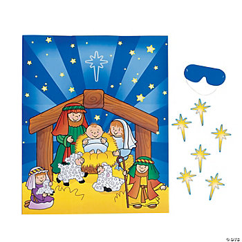 Pin The Star On The Nativity Game