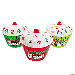 "Inflatable ""Happy Birthday Jesus!"" Cupcakes"