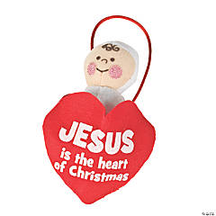 Plush Baby Jesus Christmas Ornaments