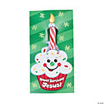 """Happy Birthday Jesus!"" Candy Cane On Card"