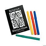 Religious Stained Glass Coloring Books With Markers