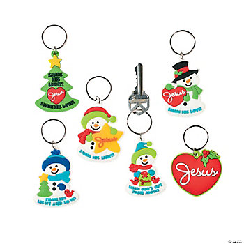 """Share His Light And Love"" Key Chains"