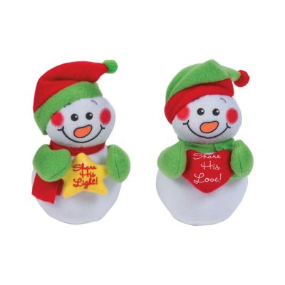 12 Religious snowman stuffed animals